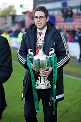 WREXHAM, WALES - Monday, May 2, 2016: FAW's Steve Lloyd during the 129th Welsh Cup Final at the Racecourse Ground. (Pic by David Rawcliffe/Propaganda)