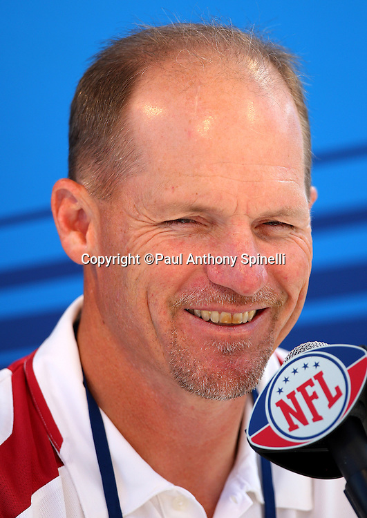 TAMPA, FL - JANUARY 27: Head Coach Ken Whisenhunt of the NFC Arizona Cardinals speaks to the media during Super Bowl XLIII Media Day at Raymond James Stadium on January 27, 2009 in Tampa, Florida. ©Paul Anthony Spinelli *** Local Caption *** Ken Whisenhunt