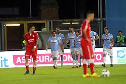 """Foto Filippo Rubin<br /> 18/05/2017 Ferrara (Italia)<br /> Sport Calcio<br /> Spal vs Bari - Campionato di calcio Serie B ConTe.it 2016/2017 - Stadio """"Paolo Mazza""""<br /> Nella foto: goal Spal Gianmarco Zigoni<br /> <br /> Photo Filippo Rubin<br /> May 18, 2016 Ferrara (Italy)<br /> Sport Soccer<br /> Spal vs Bari - Italian Football Championship League B ConTe.it 2016/2017 - """"Paolo Mazza"""" Stadium <br /> In the pic: Spal?s goal Gianmarco Zigoni"""