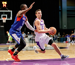 November 19, 2017 - Reno, Nevada, U.S - Reno Bighorns Guard DAVID STOCKTON (11) drives into the paint against Long Island Nets Guard SHANNON SCOTT (11) during the NBA G-League Basketball game between the Reno Bighorns and the Long Island Nets at the Reno Events Center in Reno, Nevada. (Credit Image: © Jeff Mulvihill via ZUMA Wire)