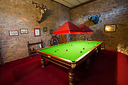 Billiard roon in Nesbitt Castle