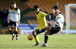 Ellis Harrison of Bristol Rovers tackles Kiko of Port Vale - Mandatory by-line: Robbie Stephenson/JMP - 18/02/2017 - FOOTBALL - Vale Park - Stoke-on-Trent, England - Port Vale v Bristol Rovers - Sky Bet League One
