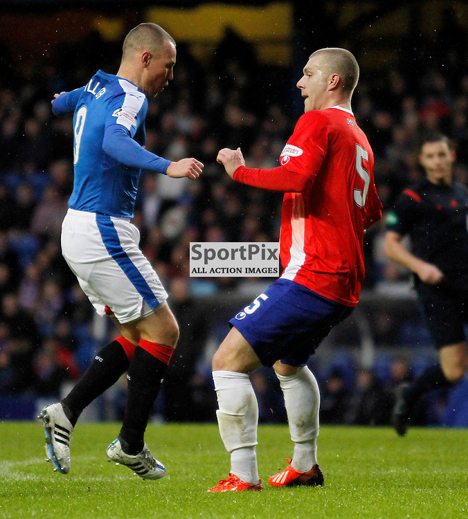 Rangers FC V Cowdenbeath FC, Scottish Cup Round 4, Sunday 10 January 2016Rangers FC V Cowdenbeath FC, Scottish Cup Round 4, Sunday 10 January 2016<br /> <br /> COWDENBEATH #5 KENNY ADAMSON AND RANGERS #9 KENNY MILLER