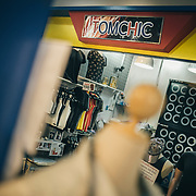 Bangkok, April 7, 2017 - TomChic Fashion shop just for TomBoy.<br /> Thailand's 'tom' (as in tomboys) inhabit a unique place on the gender spectrum. They are girls who dress and act in a masculine way, typically sporting a uniform look of short hair, t-shirts and jeans. But toms don't consider themselves trans or even lesbians, despite the fact that they date women (often girly 'dees' or other toms). <br /> <br /> You can&rsquo;t choose how you&rsquo;re born, but you can choose how to live your life. Thailand seems to be the most tolerant place for the LGBTI (lesbian, gay, bisexual, transgender, intersex ) community. However, tolerance doesn&rsquo;t mean acceptance. For the LGBTI people who have already revealed their gender identity tend to often be the ones that have been mistreated by the general public and the media due to the lack of knowledge and understanding. In Thai society, transmen are still in the shadow of &lsquo;tomboy&rsquo; culture. While the terms of &lsquo;transwoman&rsquo; and &lsquo;tomboy&rsquo; have been well known among Thai people for many decades, the term of &lsquo;transman&rsquo; only been introduced about 5 years ago. &ldquo;Phu Chai Kham Phej&rdquo; is a Thai term that has been translated from a western term &lsquo;transman&rsquo; which means a transgender person who was assigned female at birth but whose gender identity is that of a man. &copy; Jean-Michel Clajot