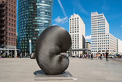 Modern art installation sculpture by Kang Muxiang at Potsdamer Platz in Berlin, Germany