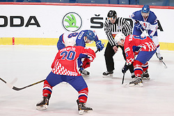 17.04.2016, Dom Sportova, Zagreb, CRO, IIHF WM, Kroatien vs England, Division I, Gruppe B, im Bild Matthew Myers, Luka Mikulic, Mislav Blagus. // during the 2016 IIHF Ice Hockey World Championship, Division I, Group B, match between Croatia vs England at the Dom Sportova in Zagreb, Croatia on 2016/04/17. EXPA Pictures © 2016, PhotoCredit: EXPA/ Pixsell/ Dalibor Urukalovic<br /> <br /> *****ATTENTION - for AUT, SLO, SUI, SWE, ITA, FRA only*****