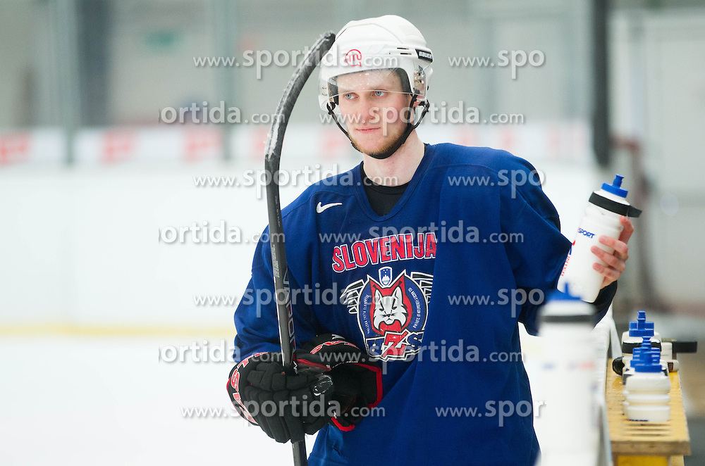 Luka Basic during practice session of Slovenian Ice Hockey National Team for IIHF World Championship in Sweden and Finland, on March 28, 2013, in Arena Zlato Polje, Kranj, Slovenia. (Photo by Vid Ponikvar / Sportida.com)