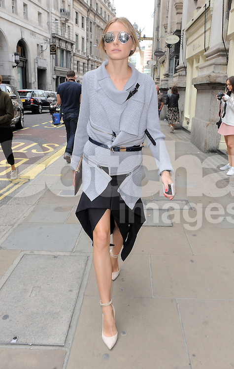 Olivia Palermo attends Emilia Wickstead fashion show during London Fashion Spring Summer 2015 in London, UK. 13/09/2014 <br />