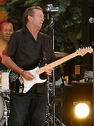 Eric Clapton performs on the Good Morning America Summer Concert Series in Bryant Park on Friday, July 20, 2007 in New York.