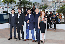 LTOR Actor Shia Labeouf, actor Jason Clarke, US actor Tom Hardy, Australian director John Hillcoat and US actress Jessica Chastain poses during the photocall of 'Lawless' presented in competition at the 65th Cannes film festival on May 19, 2012 in Cannes..Photo Ki Price/i-Images