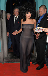 Lady Gaga and Tony Bennett leaving the L'Archiduc Jazz bar in Brussels, Belguim. 22/09/2014<br /> BYLINE MUST READ : GOTCHAIMAGES.COM<br /> <br /> Copyright by © Gotcha Images Ltd. All rights reserved.<br /> Usage of this image is conditional upon the acceptance <br /> of Gotcha Images Ltd, terms and conditions available at<br /> www.gotchaimages.com