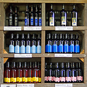 Wine bottles at Summit Estate Winery