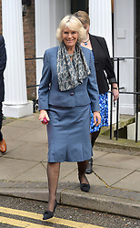 HRH Camilla the Duchess of Cornwall leaves Trinity Hospice in Clapham, London, UK after meeting staff and patients.<br /> Wednesday, 19th February 2014. Picture by Ben Stevens / i-Images