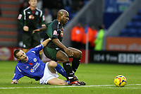 Photo: Pete Lorence.<br />Leicester City v Plymouth Argyle. Coca Cola Championship. 11/11/2006.<br />Alan Maybury attempts to bring down Barry Hayles.