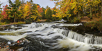 An autumn afternoon at the upper section of Bond Falls.<br /> Paulding, Michigan