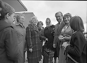 Taoiseach's Election Campaign.      (N77)..1981..23.05.1981..05.23.1981..23rd May 1981..On the 21st May the Taoiseach, Mr Charles Haughey, dissolved the Dáil and called a general election. Charles Haughey, Garret Fitzgerald and Frank Cluskey were leading their respective parties into a general election for the first time as they had only taken party leadership during the last Dáil..Fianna Fáil had hoped to call the election earlier, but the Stardust Tragedy caused the decision to be deferred.