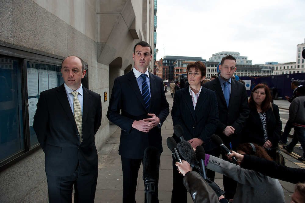 Detective Superintendent Simon Messenger gives a statement at The Old Bailey in London  on February 24th 2012..Today Gordon Thompson pleaded guilty  to setting the Reeves furniture shop on fire on August 8th 2011 during the Croydon riots. ...Photo Ki Price..