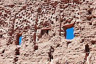 Wall of the Stork Kasbah (Kasbah des Cigognes) in Ouarzazate.