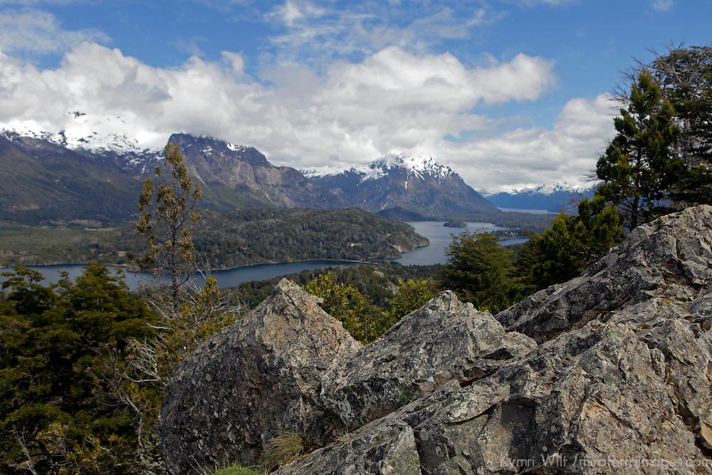 South America, Argentina, Bariloche. View from Cerro Campinario.