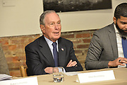 "12/3/19 Jackson MS. Democratic Presidential candidate and former New York City Mayor Michael Bloomberg visits with Mayor  Chokwe Antar Lumumba at the Smith Robertson Museum. Bloomberg and the Mayor of Jackson where their to have a discussion on criminal justice reform with community leaders. Bloomberg spoke with the press after his meeting with community leaders and said he made a mistake with ""stop and frisk"" policy in New York City and has learned from his mistakes. Today at the community meeting Presidential candidate Michael Bloomberg unveiled three criminal justice reform policy proposals. The proposals focus on reducing the United States incarceration rates, which are the highest in the world and addressing the failings of the criminal justice system that disproportionately harms communities of color. Bloomberg will introduce his plan for comprehensive criminal justice reform in the coming weeks. Photo ©Suzi Altman"
