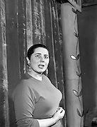 16/04/1957<br /> 04/16/1957<br /> 16 April 1957<br /> Miss Anna Manahan, actress at the Pyke Theatre Dublin.