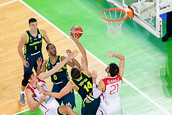 Gasper Vidmar of Slovenia during basketball match between National teams of Slovenia and Turkey in Round #8 of FIBA Basketball World Cup 2019 European Qualifiers, on September 17, 2018 in Arena Stozice, Ljubljana, Slovenia. Photo by Urban Urbanc / Sportida