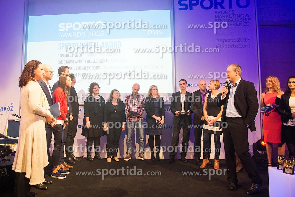 Sports marketing and sponsorship conference Sporto 2015, on November 19, 2015 in Hotel Slovenija, Congress centre, Portoroz / Portorose, Slovenia. Photo by Vid Ponikvar / Sportida
