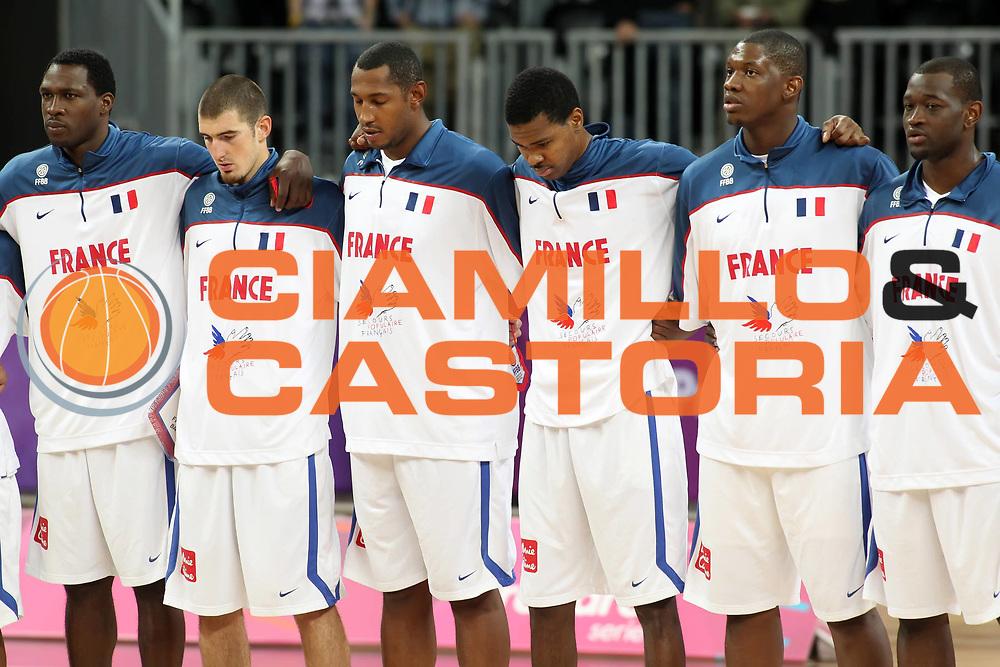 DESCRIZIONE : Londra London Olympic Test Event<br /> GIOCATORE : Team<br /> SQUADRA : Francia France<br /> EVENTO : London Olympic Test Event<br /> GARA : Francia Cina France China<br /> DATA : 18/08/2011 <br /> CATEGORIA : <br /> SPORT : Pallacanestro <br /> AUTORE : Agenzia Ciamillo-Castoria/E.Castoria<br /> Galleria : Olympic Test Event London 2012<br /> Fotonotizia : Londra London Olympic Test Event<br /> Predefinita :