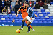 Birmingham City midfielder David Davis plays the ball during the Sky Bet Championship match between Birmingham City and Ipswich Town at St Andrews, Birmingham, England on 23 January 2016. Photo by Alan Franklin.