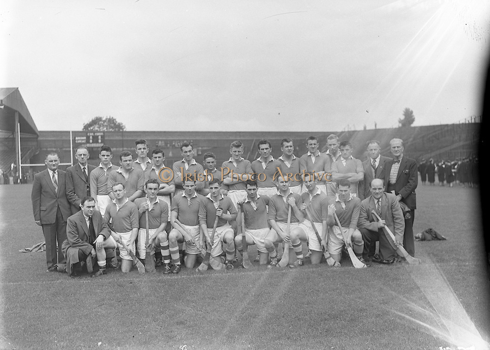 14/09/1958<br /> 09/14/1958<br /> 14 September 1958<br /> Junior Final: Cork v Antrim at Croke Park, Dublin. Cork team.