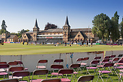 Cheltenham Pavillion before day 2 of the Specsavers County Champ Div 2 match between Gloucestershire County Cricket Club and Leicestershire County Cricket Club at the Cheltenham College Ground, Cheltenham, United Kingdom on 16 July 2019.