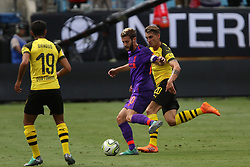July 22, 2018 - Charlotte, NC, U.S. - CHARLOTTE, NC - JULY 22: Adam Lallana (20) of Liverpool with the ball during the International Champions Cup soccer match between Liverpool FC and Borussia Dortmund in Charlotte, N.C. on July 22, 2018. (Photo by John Byrum/Icon Sportswire) (Credit Image: © John Byrum/Icon SMI via ZUMA Press)