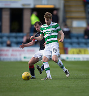 Celtic&rsquo;s Stuart Armstrong and Dundee&rsquo;s Paul McGowan - Dundee v Celtic in the Ladbrokes Scottish Premiership at Dens Park, Dundee.Photo: David Young<br /> <br />  - &copy; David Young - www.davidyoungphoto.co.uk - email: davidyoungphoto@gmail.com