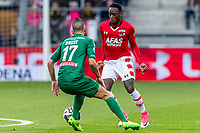 ALKMAAR - 01-04-2017, AZ - FC Groningen, AFAS Stadion, 0-0, FC Groningen speler Jesper Drost, AZ speler Ridgeciano Haps