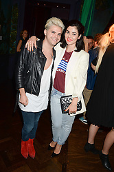 MARINA DIAMANDIS and VINCE KIDD at the the London Collections: Men 2013 Ben Sherman and Shortlist Magazine party at Sketch, Conduit Street, London on 18th June 2013.
