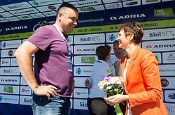 Rudolf Skobe and Maja Makovec Brencic after the last Stage 4 of 24th Tour of Slovenia 2017 / Tour de Slovenie from Rogaska Slatina to Novo mesto (158,2 km) cycling race on June 18, 2017 in Slovenia. Photo by Vid Ponikvar / Sportida