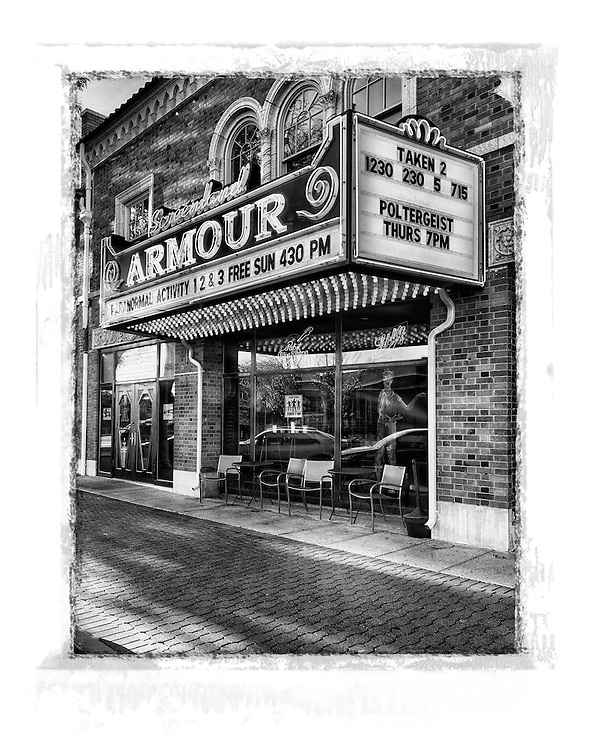 historic screenland armour theater black and white Kansas City Missouri