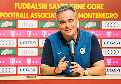 Tomaz Kavcic, head coach of Slovenia  during press conference after the friendly football match between National Teams of Montenegro and Slovenia, on June 2, 2018 in Stadium Pod goricom, Podgorica, Montenegro. Photo by Vid Ponikvar / Sportida