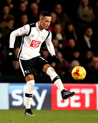 Thomas Ince of Derby County controls the ball in front of a Sky Bet Advertising board - Mandatory by-line: Robbie Stephenson/JMP - 21/02/2017 - FOOTBALL - iPro Stadium - Derby, England - Derby County v Burton Albion - Sky Bet Championship