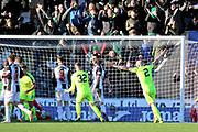 GOAL Hibernian defender Darren McGregor (24) scores to make it 1-2 and celebrates during the Ladbrokes Scottish Premiership match between St Mirren and Hibernian at the Paisley 2021 Stadium, St Mirren, Scotland on 27 January 2019.