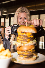 2018-04-17   - SWNS -  Kate Ovens burger challenge