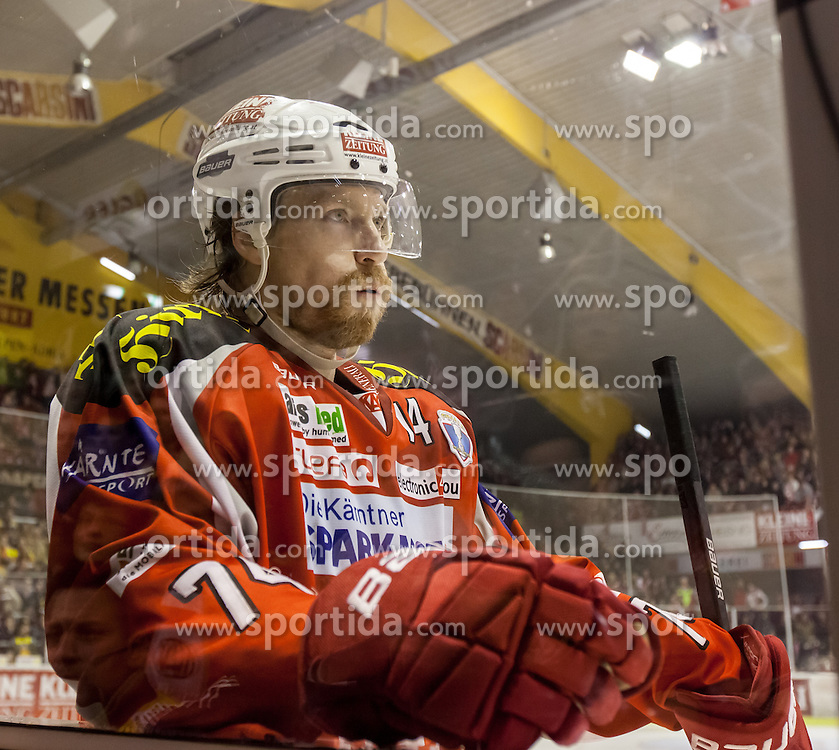 05.04.2013, Stadthalle, Klagenfurt, AUT, EBEL, EC KAC vs UPC Vienna Capitals, Finale, 4. Spiel, im Bild Jamie Lundmark (Kac, #74) // during the Erste Bank Icehockey League Final, 4th match between EC KAC and UPC Vienna Capitals at the City Hall, Klagenfurt, Austria on 2013/04/05. EXPA Pictures © 2013, PhotoCredit: EXPA/ Mag. Gert Steinthaler