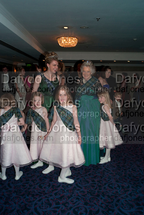LADY DALMENY; THE COUNTESS OF ROSEBERY; LORD DALMENY; The Royal Caledonian Ball 2010. Grosvenor House. Park Lane. London. 30 April 2010 *** Local Caption *** -DO NOT ARCHIVE-© Copyright Photograph by Dafydd Jones. 248 Clapham Rd. London SW9 0PZ. Tel 0207 820 0771. www.dafjones.com.<br /> LADY DALMENY; THE COUNTESS OF ROSEBERY; LORD DALMENY; The Royal Caledonian Ball 2010. Grosvenor House. Park Lane. London. 30 April 2010