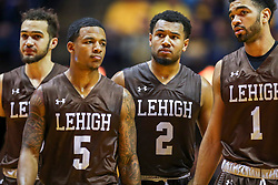 Dec 30, 2018; Morgantown, WV, USA; Lehigh Mountain Hawks players walk down the court during the second half against the West Virginia Mountaineers at WVU Coliseum. Mandatory Credit: Ben Queen-USA TODAY Sports