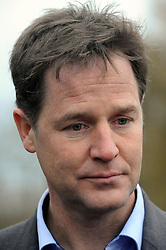 © Licensed to London News Pictures. 02/12/2014 <br /> The deputy prime minister Nick Clegg has been in Yalding in Kent today (02.12.2014) to annouce funding for flood defences in the village. This comes a year after the Kent town was severly flooded last Christmas.<br /> (Byline:Grant Falvey/LNP)