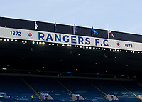 Football - 2019 / 2020 UEFA Europa League - Group G: Rangers vs. Feyenoord<br /> <br /> Rangers pay tribute to Fernando Ricksen by flying the flags at half mast, at Ibrox.<br /> <br /> COLORSPORT/BRUCE WHITE