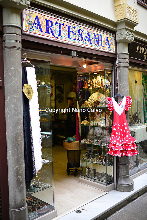 Craft shop in Granada, Spain
