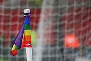 Rainbow corner flag during the EFL Sky Bet Championship match between Stoke City and Derby County at the Bet365 Stadium, Stoke-on-Trent, England on 28 November 2018.