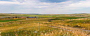 "Montana farms and farmland in largely treeless plains (under the ""big skies"" of Montana) create amazing and seemingly endless views."