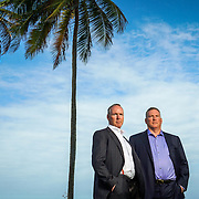 SAN JUAN, PUERTO RICO --- APRIL 4, 2016<br /> Brothers Rob, left, and Randy Swan, of Swan Global Investments, outside a hotel in San Juan, Puerto Rico.<br /> (Photo by Angel Valentin/Freelance Photographer)